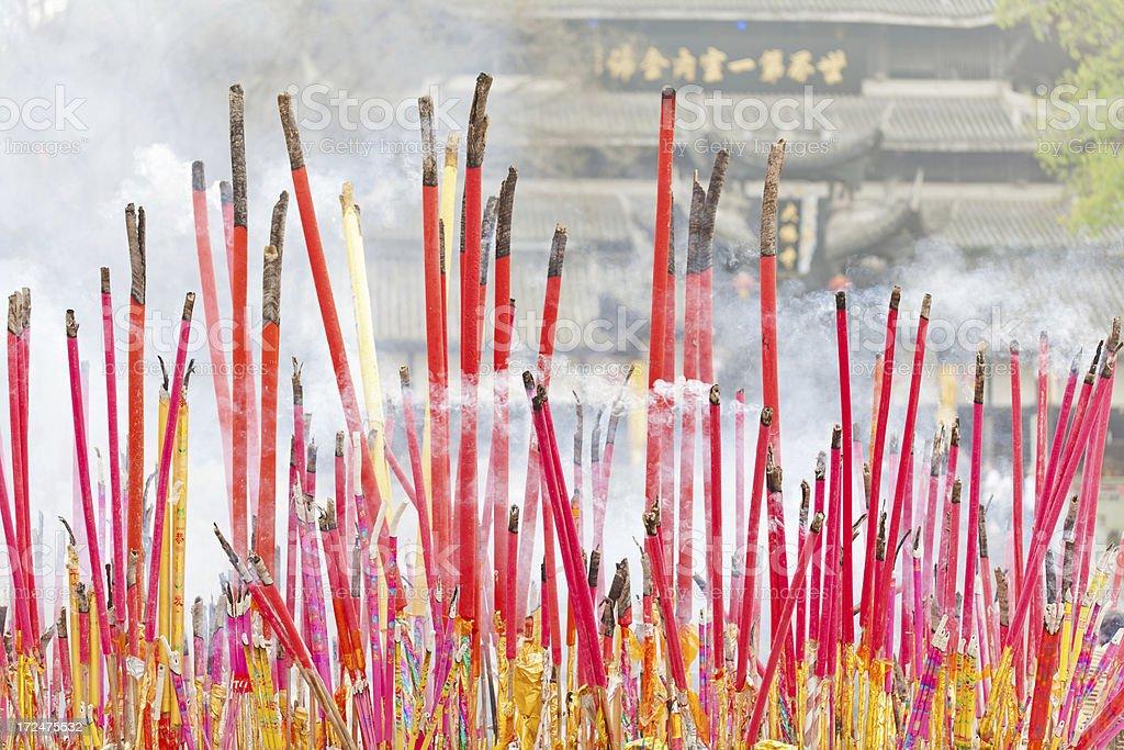 Giant Chinese burning incense royalty-free stock photo