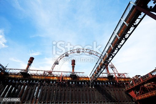ジャイアントコークス炉 Zollverein 、観覧車でエッセン - ストックフォト・写真素材...