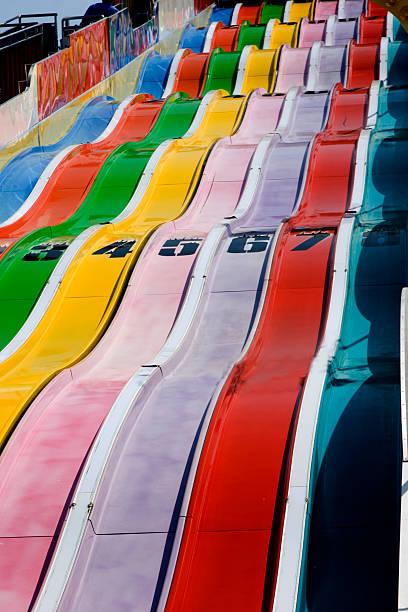 Giant Colorful Carnival Slide stock photo