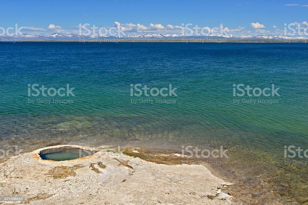 Giant Cone, Yellowstone Lake stock photo