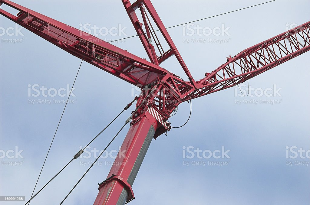 Giant crane close up 2 royalty-free stock photo