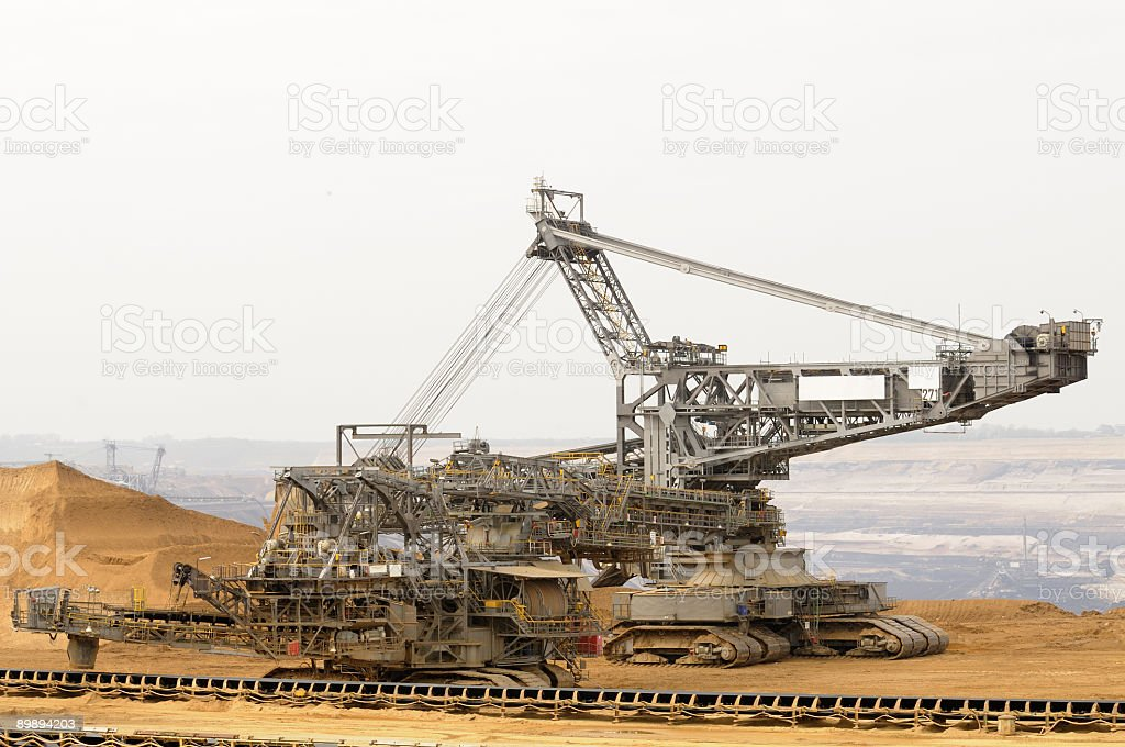 Giant digger royalty-free stock photo