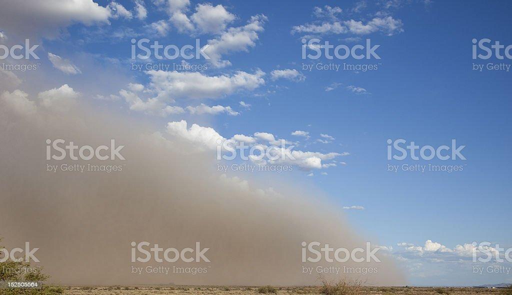 Giant Dust Storm in Arizona stock photo