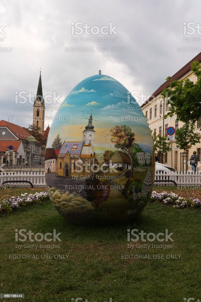Giant Easter egg in the City of Zagreb Croatia – Foto