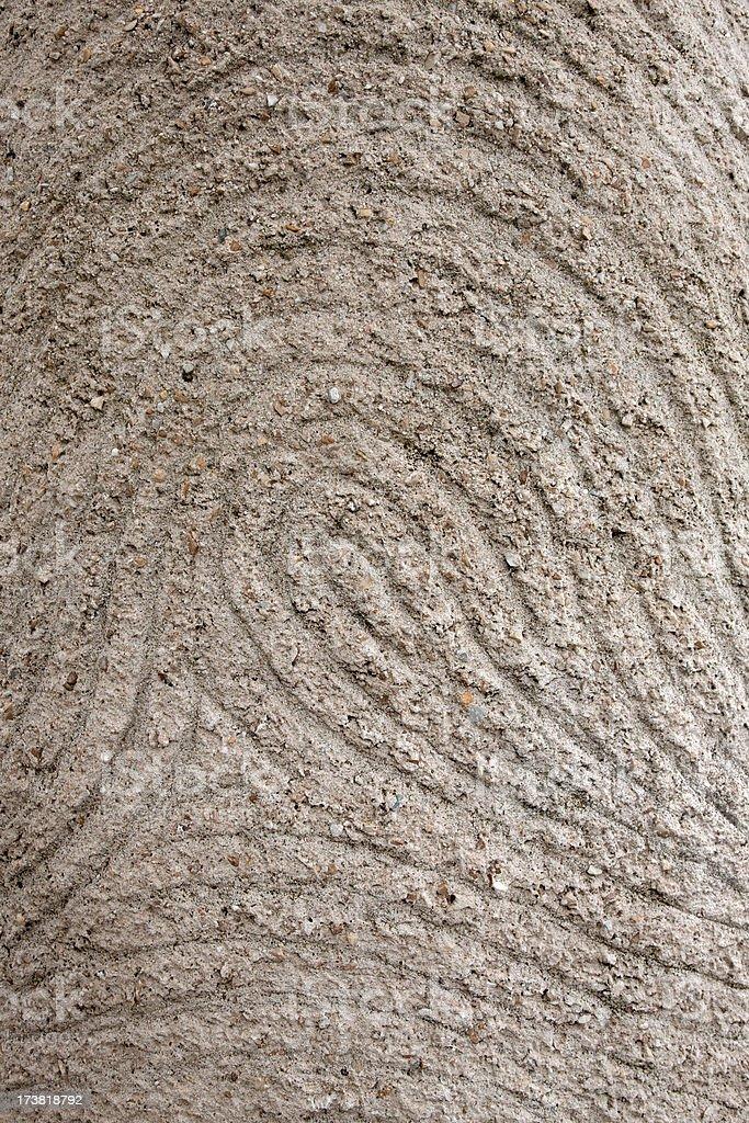 Giant fingerprint royalty-free stock photo