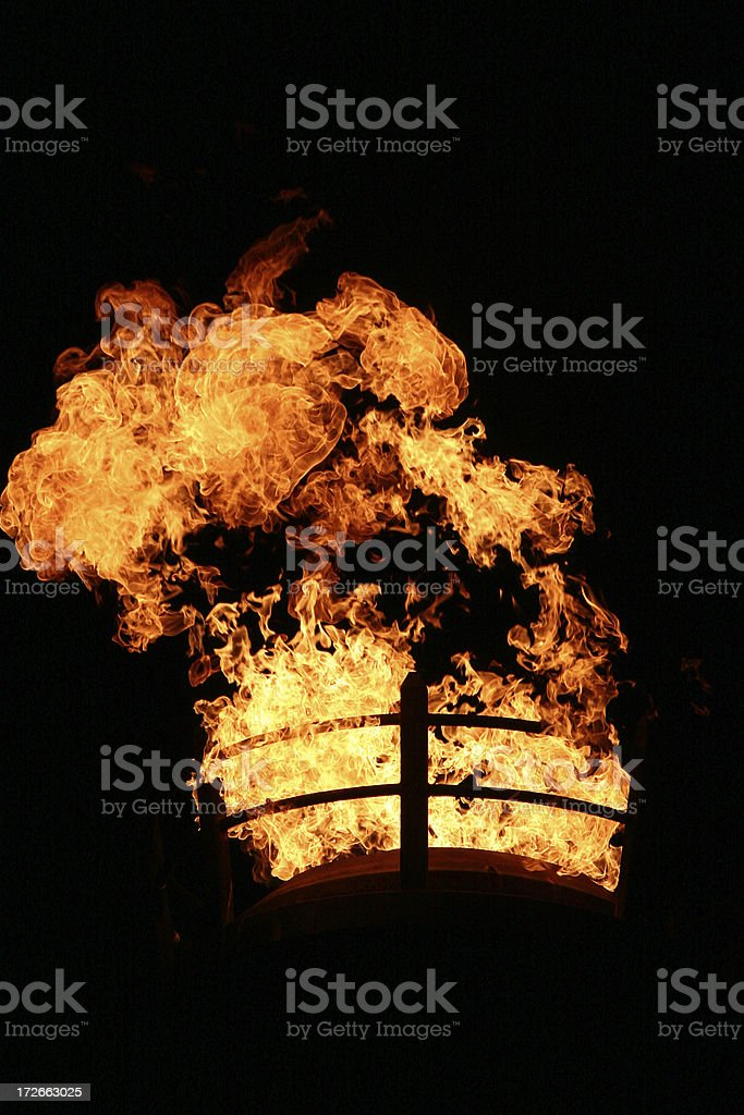 Giant Fire Torch stock photo