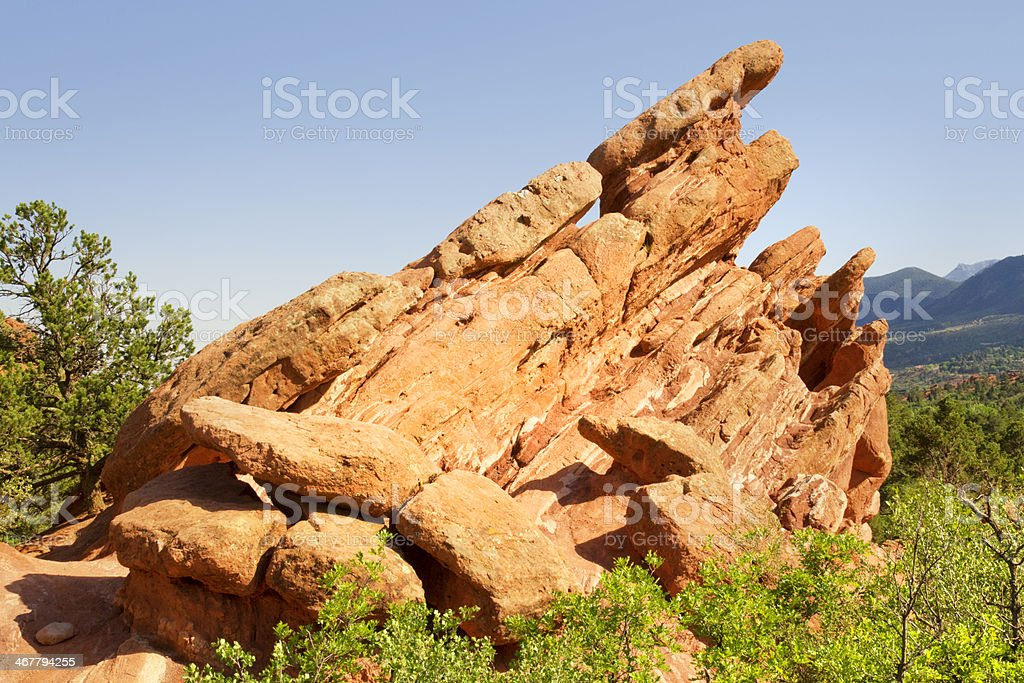 Giant Footprints - Garden of the Gods royalty-free stock photo