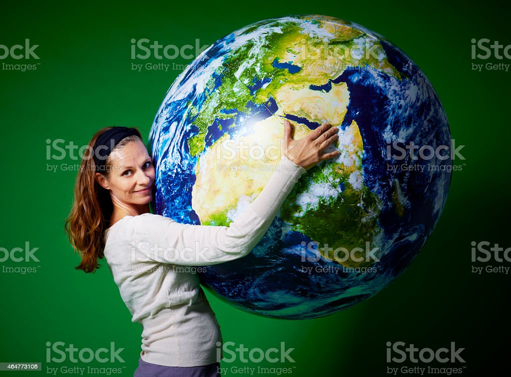 Giant globe stock photo
