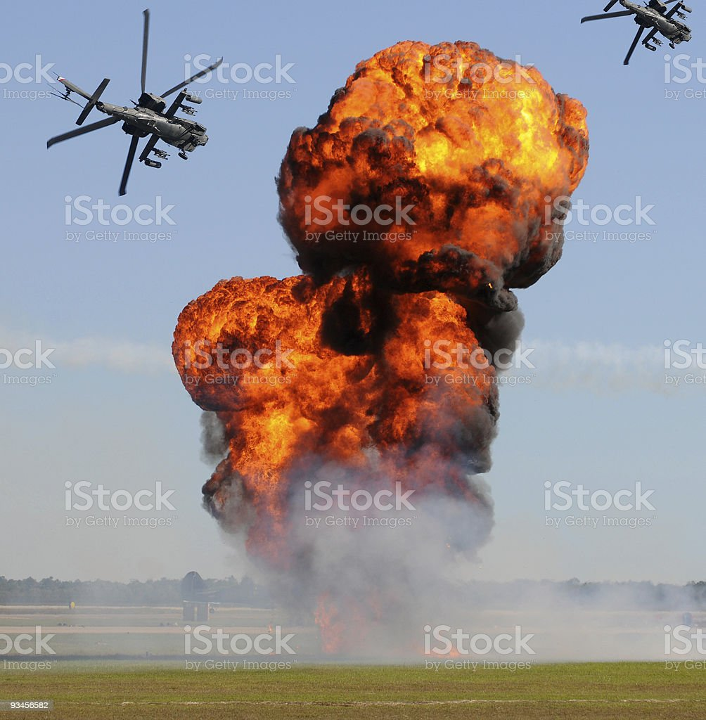 Giant ground explosion royalty-free stock photo