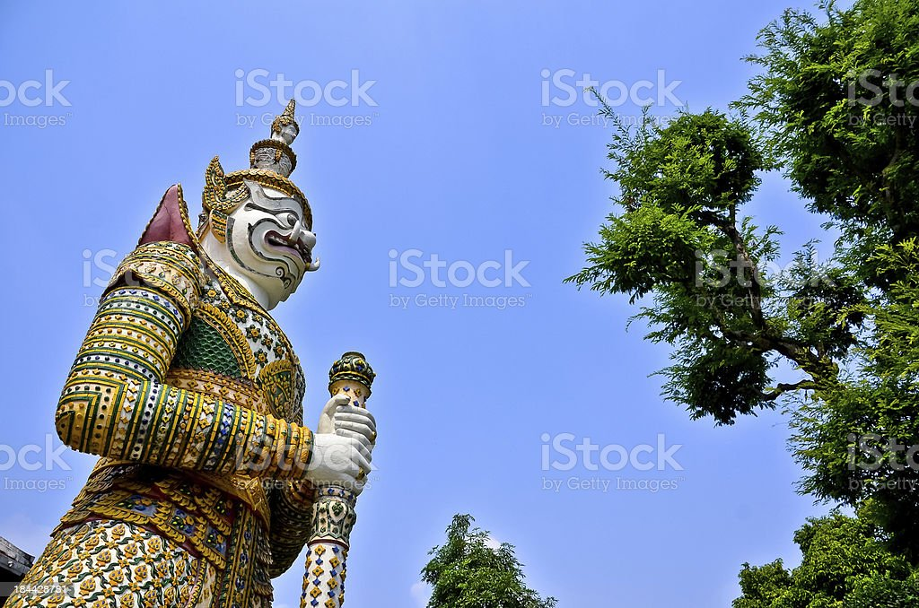 Giant Guardian in the temple royalty-free stock photo
