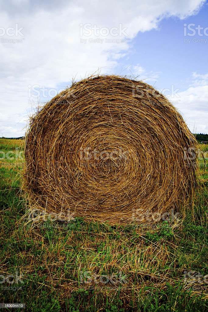 Giant Hay Bale royalty-free stock photo