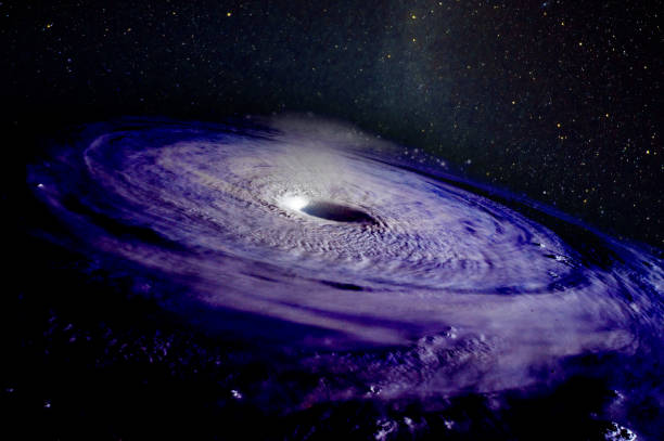 Giant hurricane  from space, concept. Elements of this image furnished by NASA.
