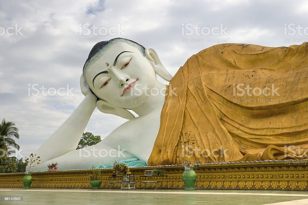 Giant Lying Buddha, Bago, myanmar. royalty-free stock photo