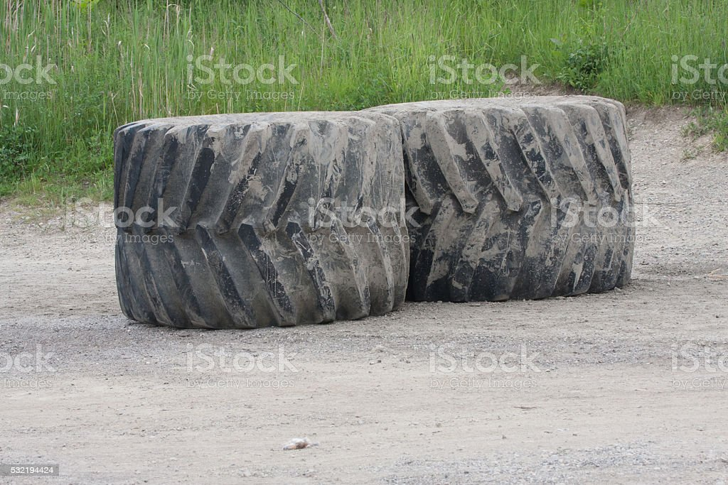Giant Machinery Rubber Tires stock photo