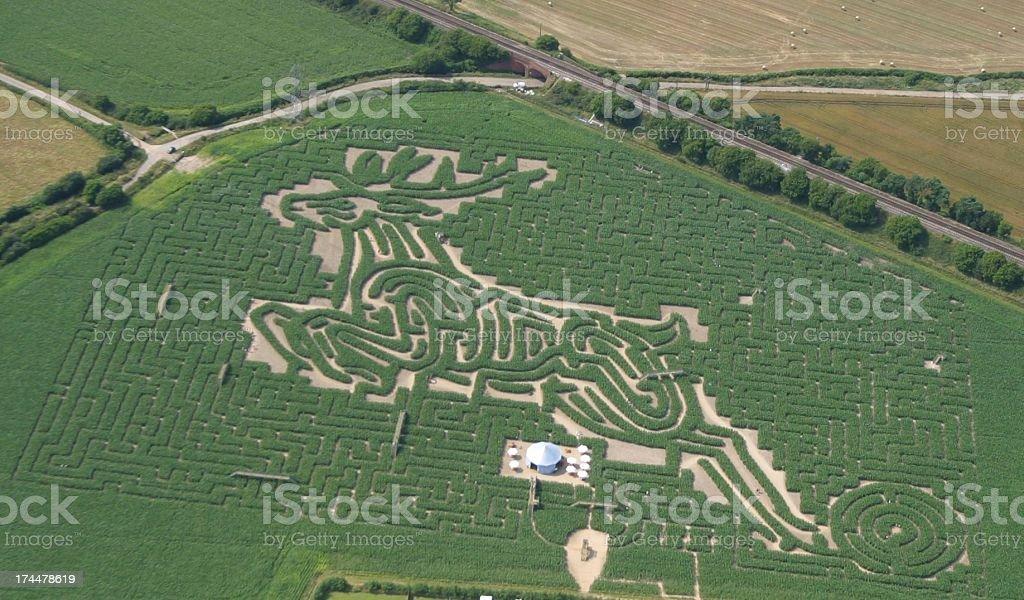 Giant Maze 2002 stock photo