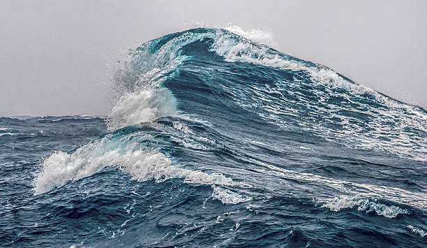 Giant ocean swell in the Drake Passage stock photo