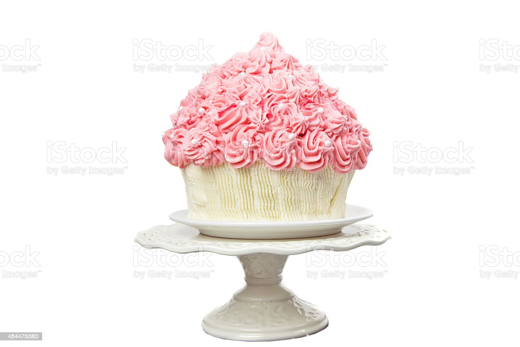 Giant Pink Cup Cake stock photo