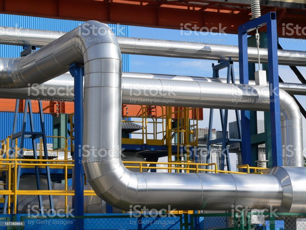 Giant pipes. royalty-free stock photo