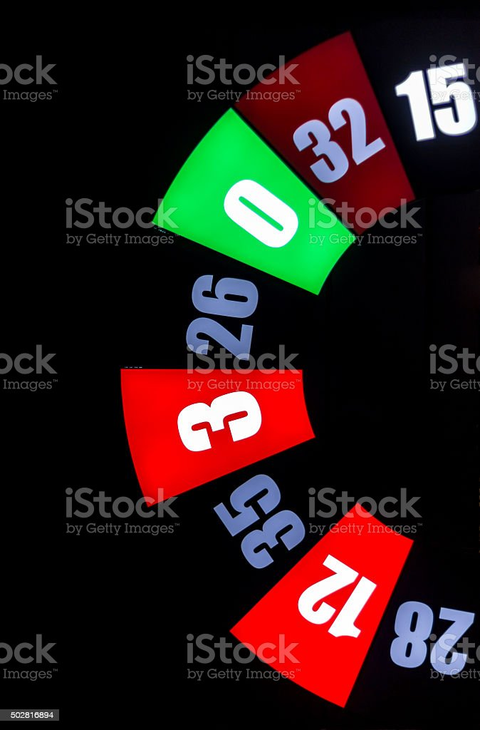 Giant roulette sign stock photo