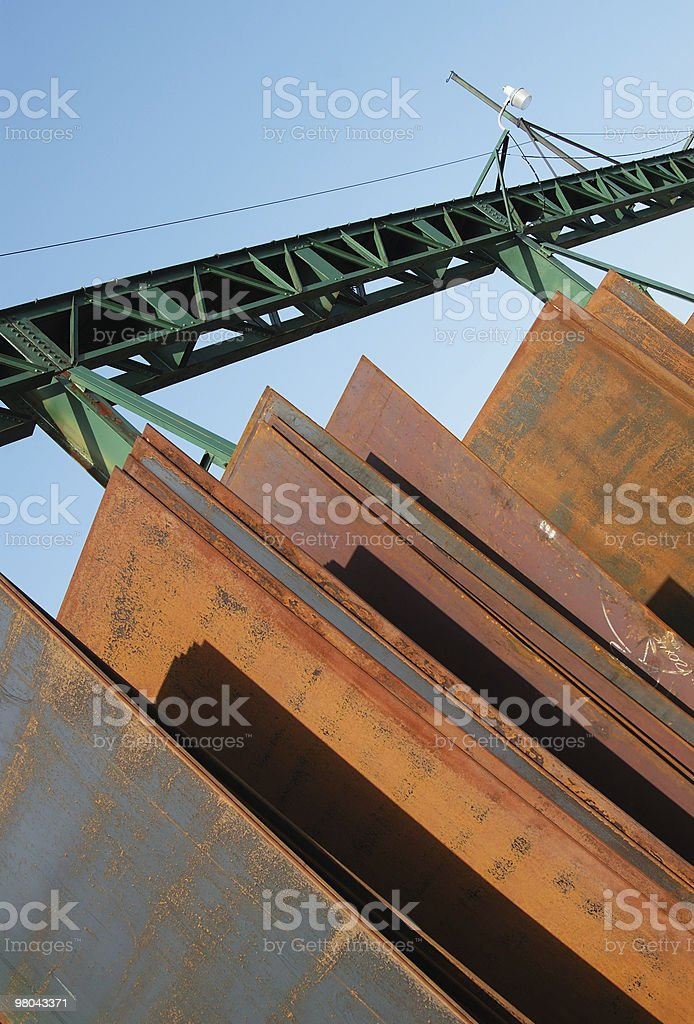 Giant rusty steel plates royalty-free stock photo