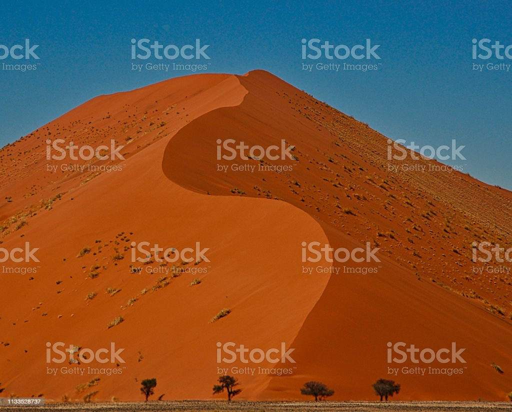 Giant sand dune in Namibia stock photo