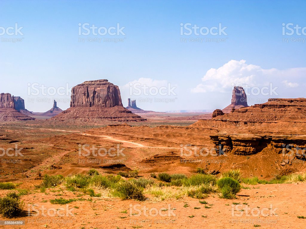 giant sandstone formation in the Monument valley stock photo