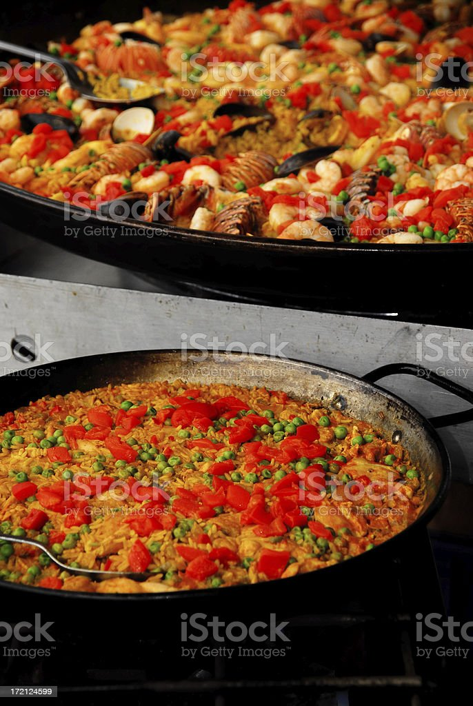giant seafood paella royalty-free stock photo