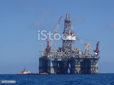 Giant drilling rig Diamond Ocean Monarch spent several months in Perth Western Australia moored off the port of Fremantle as she refitted for the Bass straight from Dec 2017 to Feb 2018. While there her boats and she were instrumental in helping several sea rescues in the vicinity and saving at least one life.