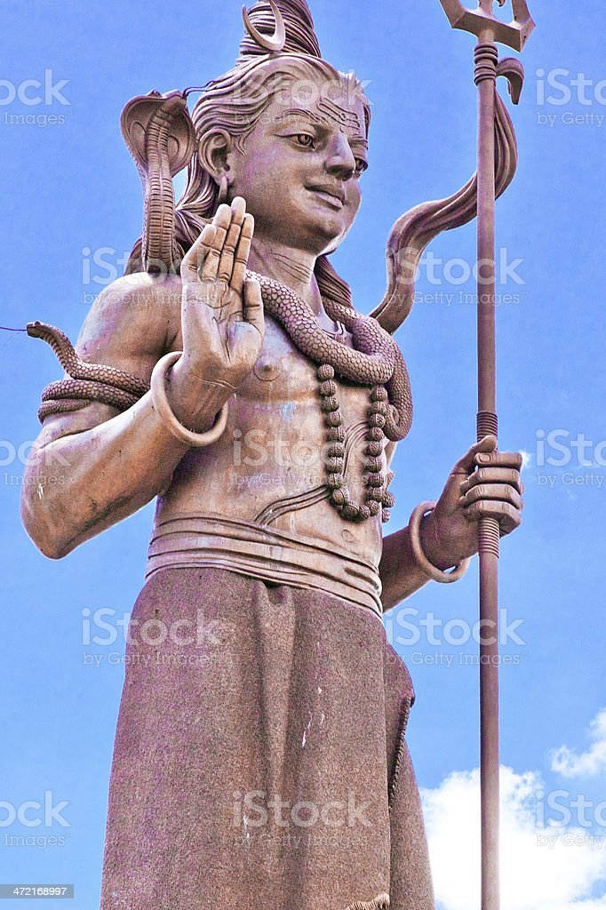 Giant Shiva Statue, Mauritius stock photo
