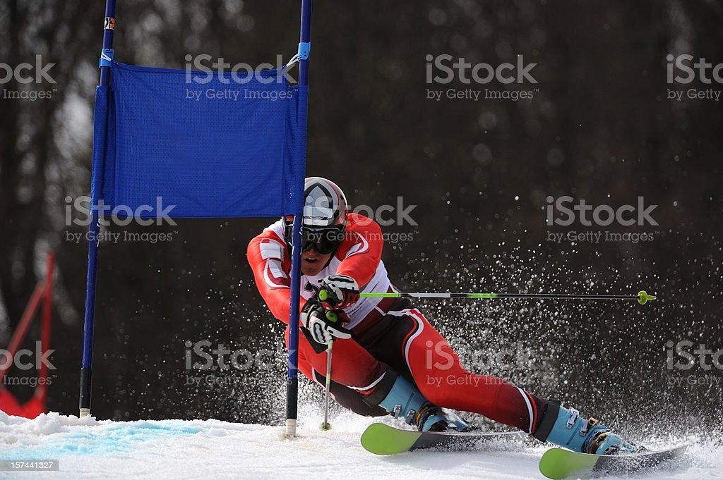 Giant slalom stock photo