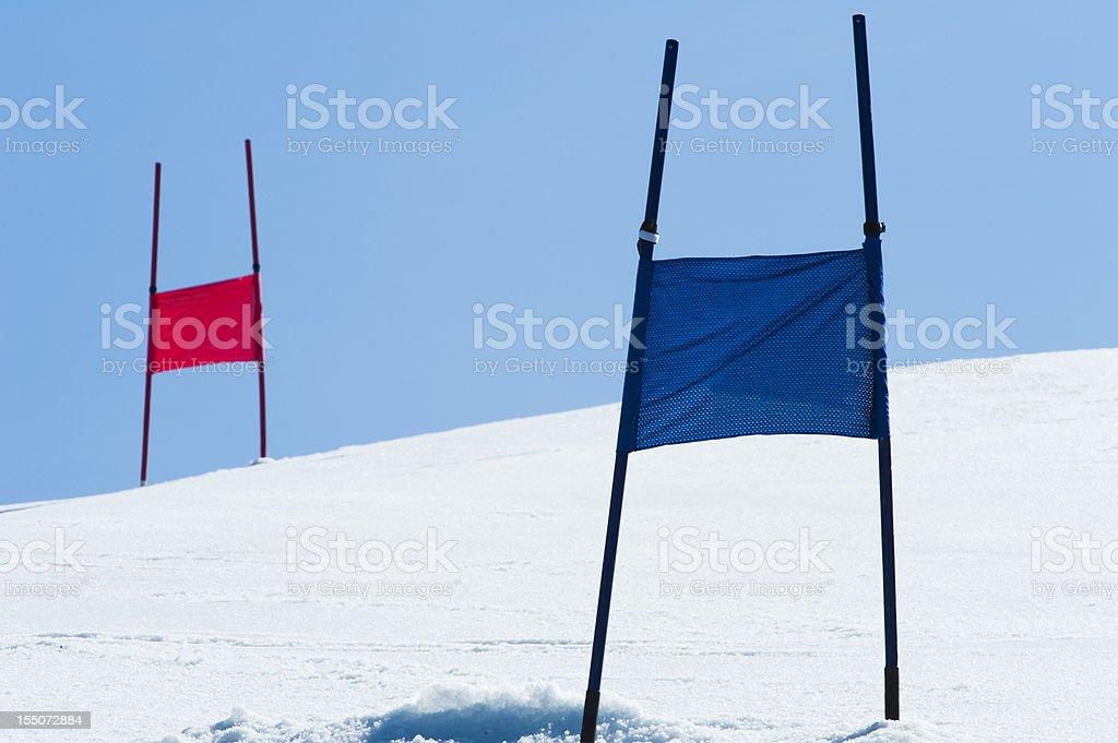 Giant slalom slope stock photo
