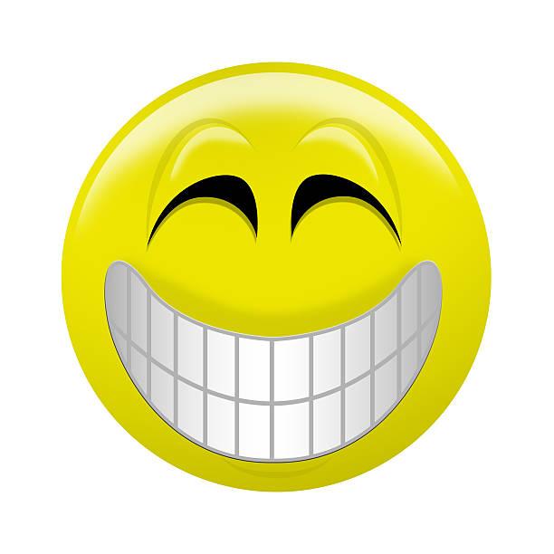 Giant Smiley-Lächeln – Foto