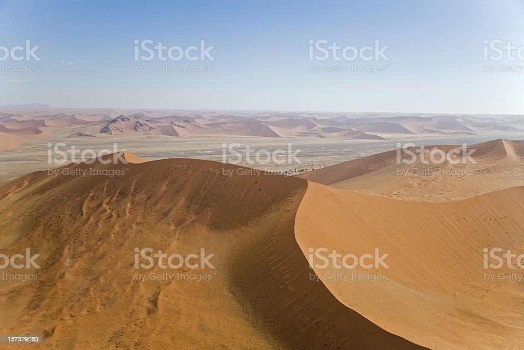 Giant Sossusvlei Desert Sand Dunes (Aerial View) stock photo