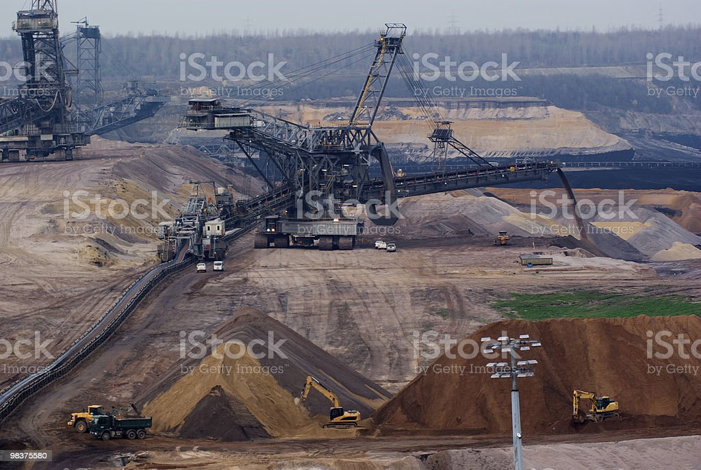 Giant spreader in an open pit royalty-free stock photo