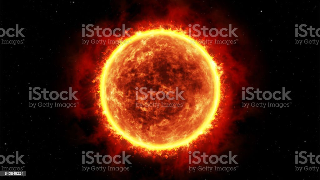 Giant star, realistic 3D graphics stock photo