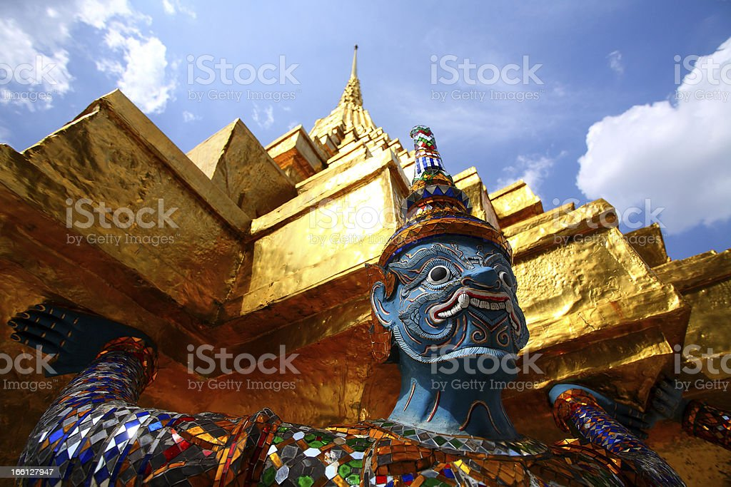 Giant statue in the Grand Palace royalty-free stock photo