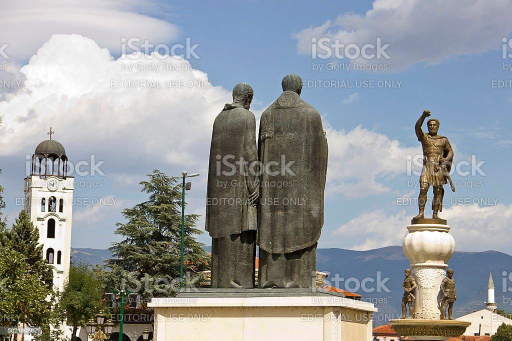 Estátua gigante de Philip de Macedon - foto de acervo