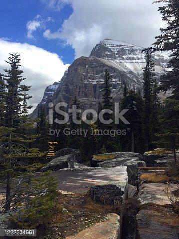 Giant Steps, giant granite boulders, in Paradise Valley, Banff National Park.