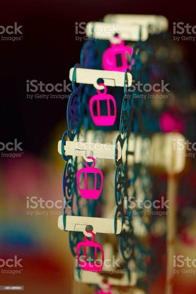 Giant wheel greeting card detail stock photo