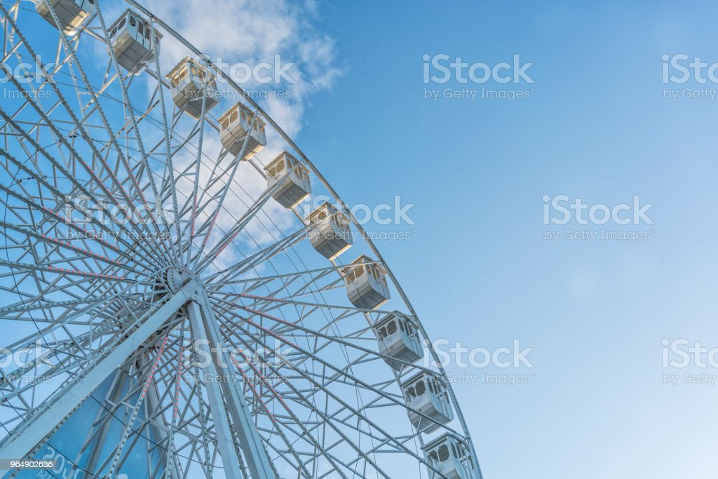 Giant wheel of amusement park. royalty-free stock photo
