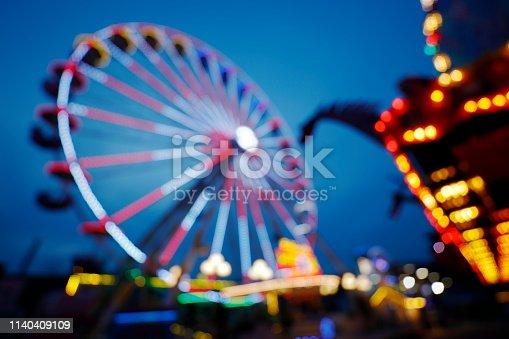 Riesenrad auf dem  Jahrmarkt