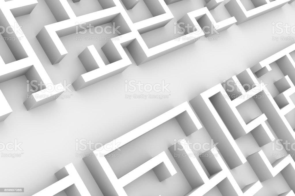 Photo Libre De Droit De Structure De Labyrinthe Geant De Blanc Avec Un Labyrinthe Facile Sentier A Travers Le Labyrinthe Structurer Banque D Images Et Plus D Images Libres De Droit De Abstrait