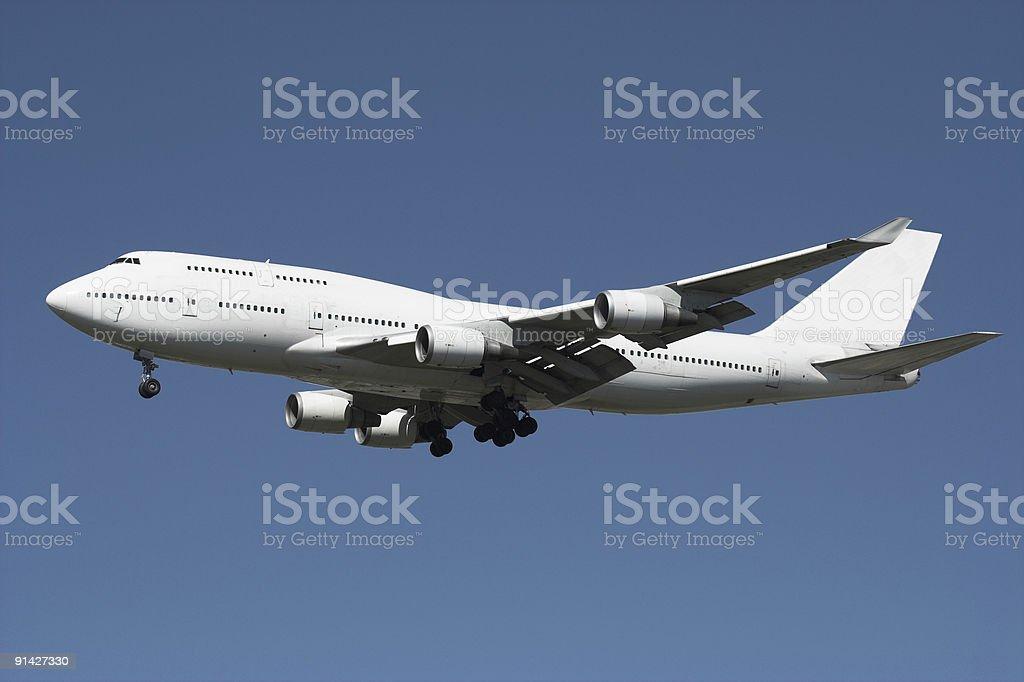 Giant White Passenger Jet royalty-free stock photo