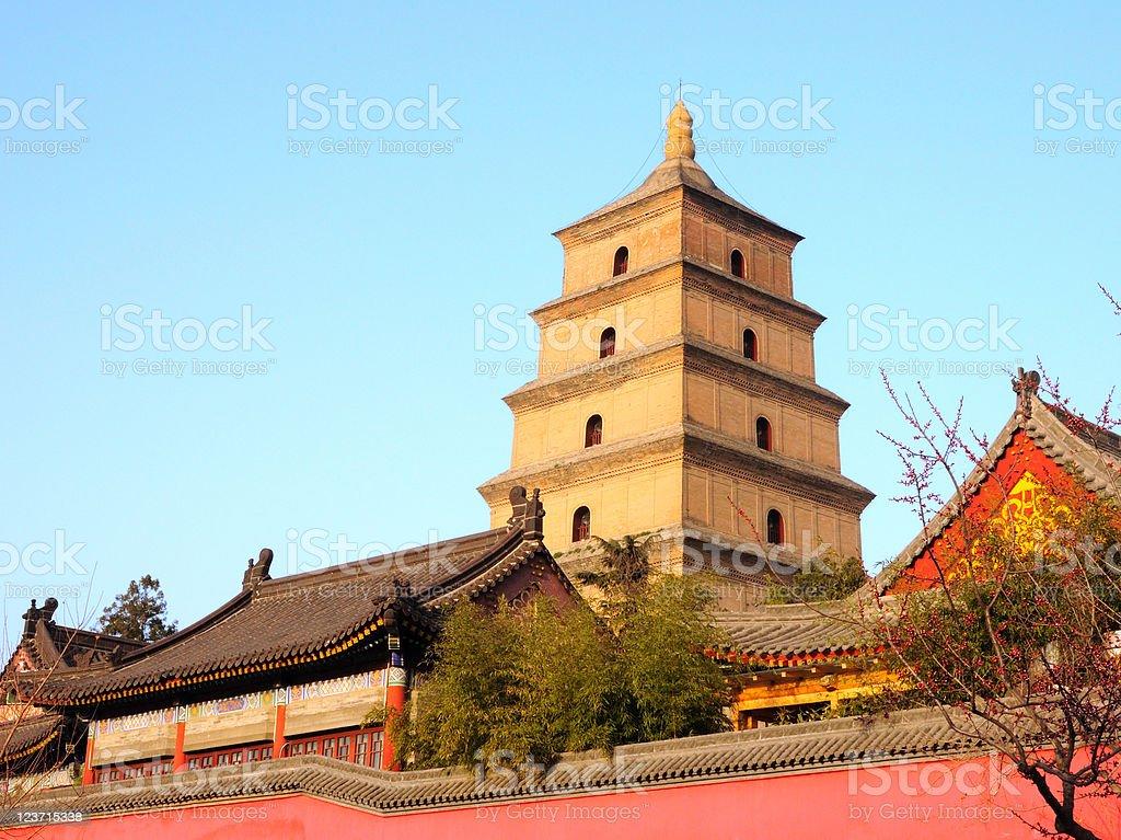 Giant Wild Goose Pagoda stock photo