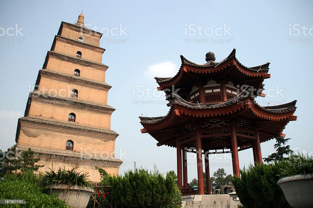 Giant Wild Goose Pagoda royalty-free stock photo
