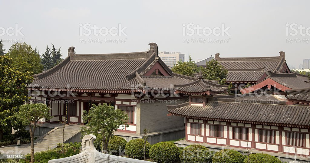 Giant Wild Goose Pagoda , Xian (Sian, Xi'an),Shaanxi province, China stock photo