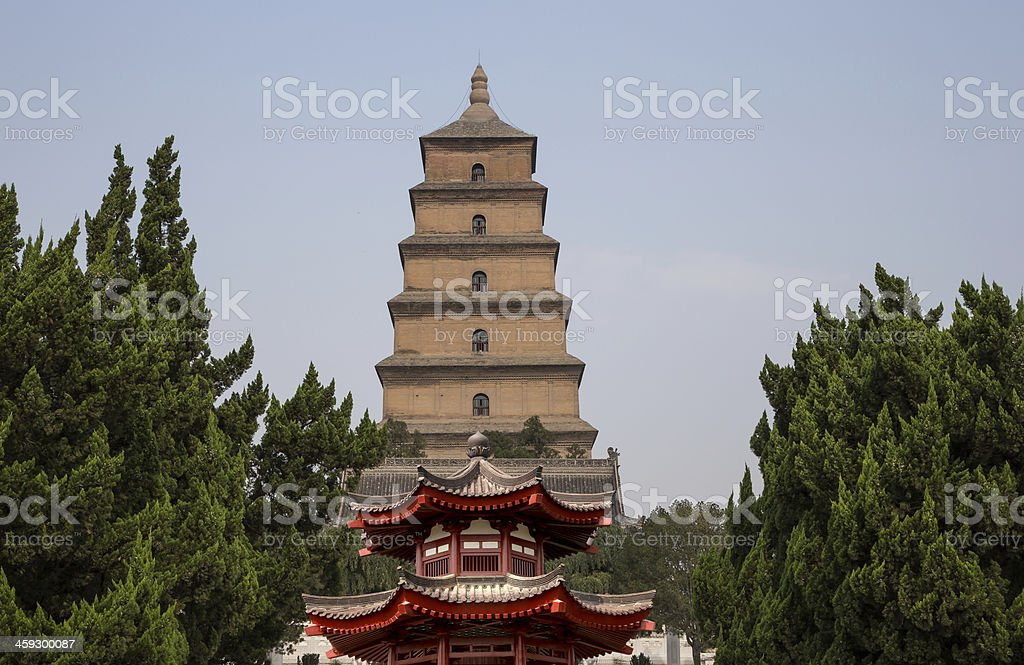 Giant Wild Goose Pagoda, Xian (Sian, Xi'an), Shaanxi province, China stock photo