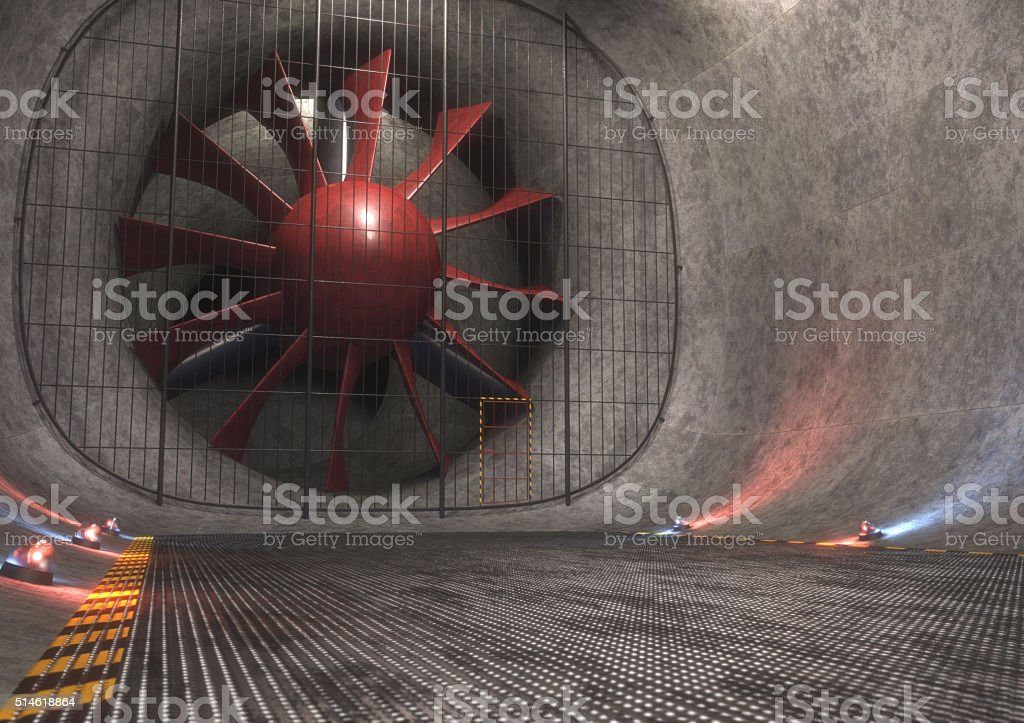 Giant Wind Tunnel stock photo