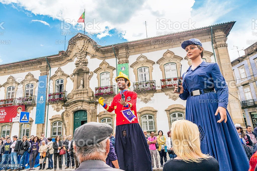 """Giants and Big-Heads"" at São João festival in Braga stock photo"