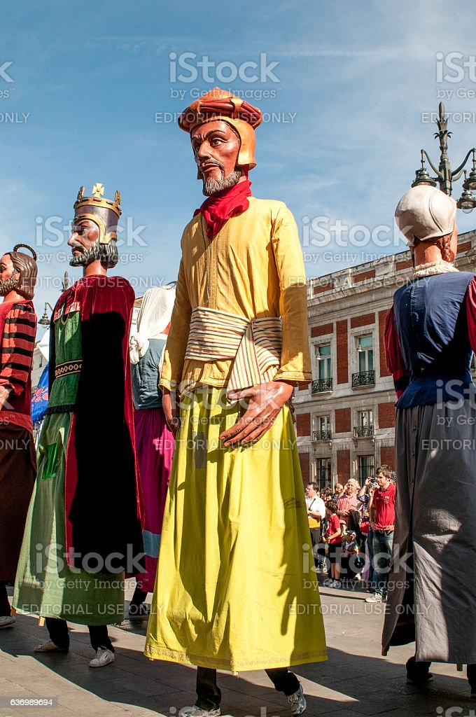 Giants and Big-Heads, festival of San Isidro, Madrid, Spain stock photo